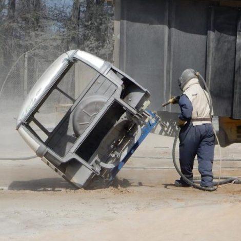 Entrosten Sandstrahlen Volkswagen