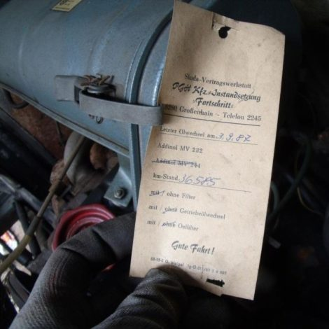 Inspektion Protokoll VW Bulli